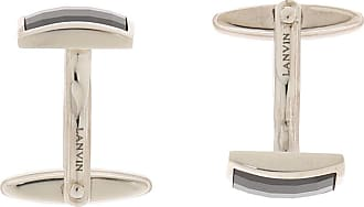 Lanvin Silver Cuff Links With Stone Mens Silver