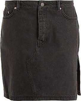 Raey Side-split Denim Skirt - Womens - Black