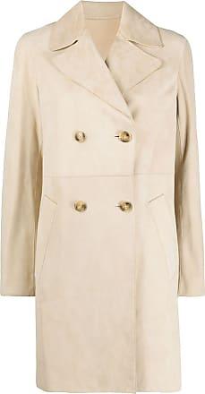 Yves Salomon double breasted mid-length coat - NEUTRALS