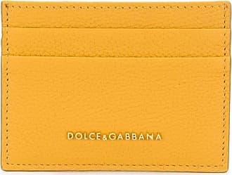 Dolce & Gabbana Porta-cartões com placa de logo - Amarelo