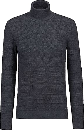 HUGO BOSS Hugo Boss Extra-slim-fit turtleneck sweater in wool & cotton XL Charcoal