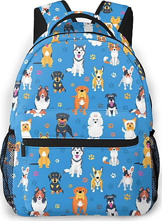 Not Applicable Clothing Cute Dog Pattern Mens Laptop Backpack Womens College Casual Lightweight Outdoor Sports Backpack