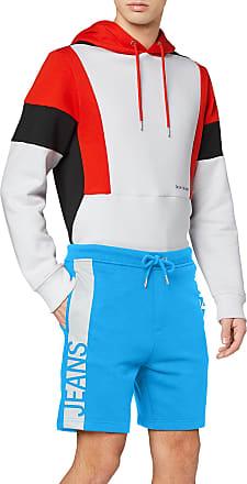 Calvin Klein Jeans Mens Stripe INSTITUTIONAL HWK Short, Blue (Coastal Blue C2O), W34 (Size:L)