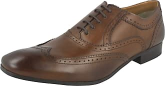 Base London Mens Lace Up Shoes Court - Waxy Brown Leather - UK Size 9 - EU Size 44 - US Size 10