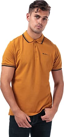 Ben Sherman Mens Mens Twin Tipped Polo Shirt in Gold - S