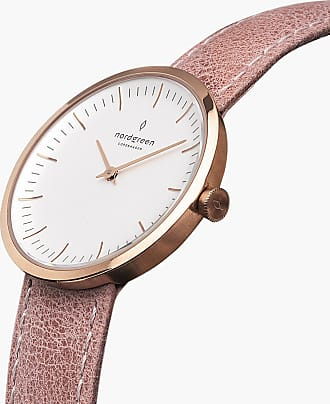 Nordgreen Infinity - Rose Gold | Pink Leather - 32mm / Rose Gold