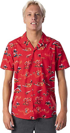 Rip Curl Velzy Short Sleeve Shirt in Bright Red (Medium)