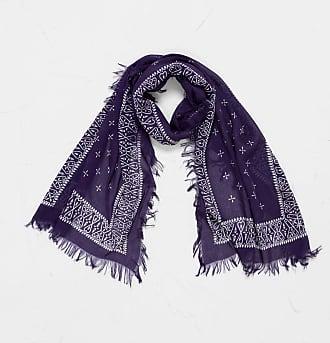 KAPITAL Rayon Dragonfly Bandana Stole Purple