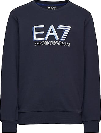 Emporio Armani R/N Sweatshirt Sweat-shirt Tröja Blå EA7