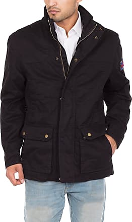 Noroze Mens Winter Army Combat Military Field Coat Jacket Black