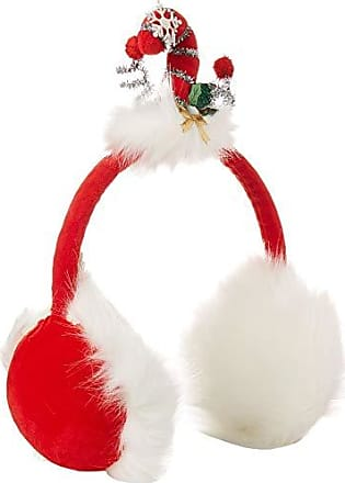 Collection XIIX Womens Candy Cane Earmuffs, red One Size