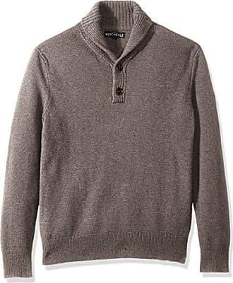 J.crew Mens Lambswool-Nylon Shawl Collar Sweater, Heather Mink, L