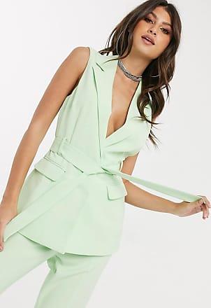 4th & Reckless sleeveless longline blazer in mint-Green