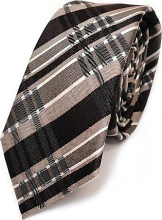 Binder Tie TigerTie Designer Krawatte beige braun dunkelblau weiß gestreift