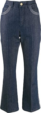 Escada contrast stitch kick flare jeans - Azul