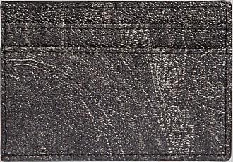 Etro Paisley Credit Card Holder, Man, Black