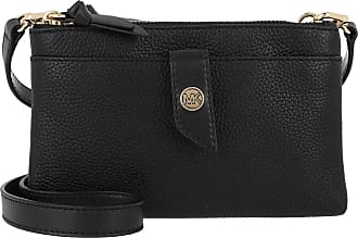 Michael Kors Charm MD Tab Doublezip Phone Crossbody Bag Black Umhängetasche schwarz