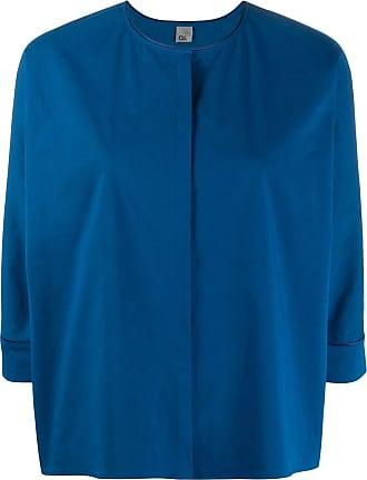 Ql2 Quelledue Blusa com fechamento oculto - Azul