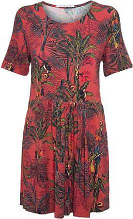 0d6dcd6a035 Cantão Vestido Manga Curta Estampa Morena Cantão - Vermelho