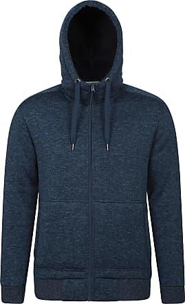 Mountain Warehouse Nevis Mens Fur Lined Hoodie - Soft Fleece Sweatshirt, Warm, Comfortable, Adjustable Hood & Front Pockets Zip Up Hood - for Winter Walking & Jogging Da