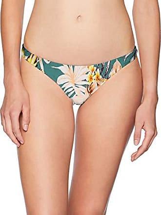 The Bikini Lab Womens Skimpy Hipster Bikini Swimsuit Bottom, Dark Teal//Tropical Oasis, Large