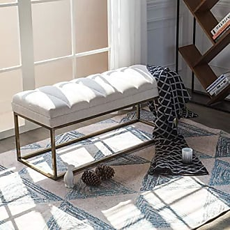New Pacific Direct 3900029-279 Darius Fabric Bench Ottomans & Cubes, Shortbread Beige