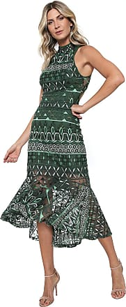 2a3811506a Colcci Vestido Colcci Midi Sereia Verde