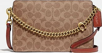 Coach Signature Chain Crossbody In Signature Canvas in Beige/Brown