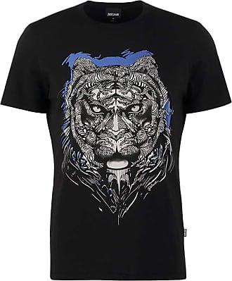 Just Cavalli Black Tiger Logo T-Shirt Size- XL