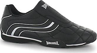 Lonsdale Herren Schuhe Turnschuhe Laufschuhe Sneakers Trainers Camden Slip  (45, Schwarz Weiß) bd47b671f3