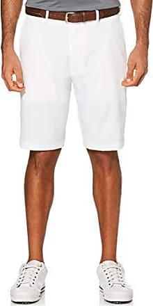 PGA TOUR Short de golf extensible à devant plat pour homme, blanc brillant, 35