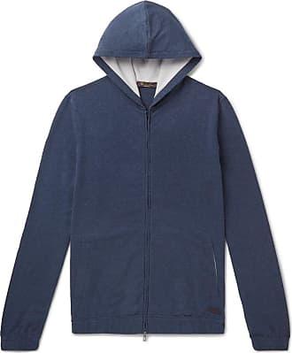 Loro Piana Stretch-cotton Jersey Zip-up Hoodie - Navy