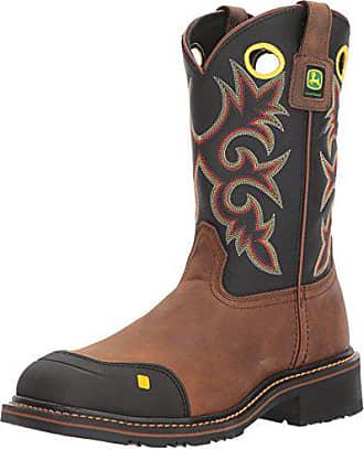 John Deere Mens JD4911 Mid Calf Boot Brown 8.5 Medium US