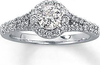 Kay Jewelers Diamond Engagement Ring 1 ct tw Round-Cut 14K White Gold