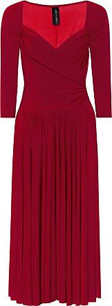 Norma Kamali Super Flair stretch-jersey midi dress