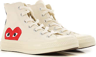 Comme Des Garçons Sneakers for Women On Sale, Play X Converse, Milk, Canvas, 2017, UK 5.5 - EU 38