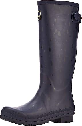 Joules Womens Wellyprint Wellington Boots, Blue (Navy Raindrops Navrndrps), 7 UK 40/41 EU