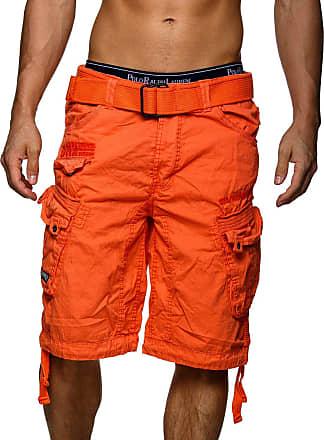 Geographical Norway Mens People Cargo Shorts - Orange - X-Large