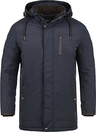 Solid Dempsey Mens Parka Outdoor Jacket Winter Coat with Hood, Size:L, Colour:Insignia Blue (1991)