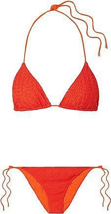 2c2dd3017a85d Missoni Missoni Mare Woman Mare Pizzo Crochet-knit Triangle Bikini Bright  Orange Size 40