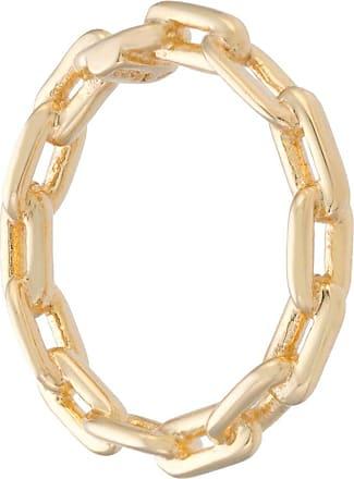 Jack Vartanian Anel Chain prata com banho ouro 18kt - Metálico