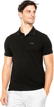 46f3472684 Calvin Klein Camisa Polo Calvin Klein Reta Preta