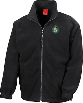 Military Online The Royal Regiment of Fusiliers B&W Crest Badge - Official British Army Full Zip Heavyweight Fleece Jacket