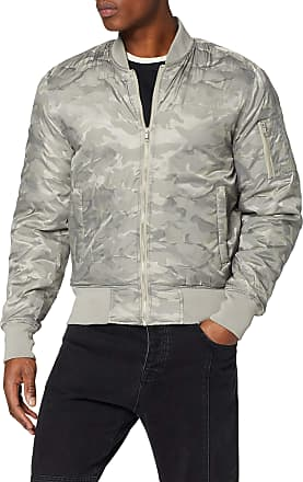 Urban Classics Mens Tonal Camo Bomber Jacket, Grey (Stone 372), XXL