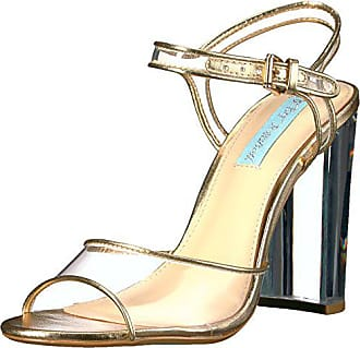 7874b1b9526e Blue by Betsey Johnson Womens Sb-Elana Dress Sandal Gold Metallic 6 M US