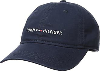 Tommy Hilfiger Mens Logo Dad Baseball Cap, Tommy Navy, One Size