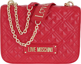 Love Moschino Quilted Handle Bag Rosso