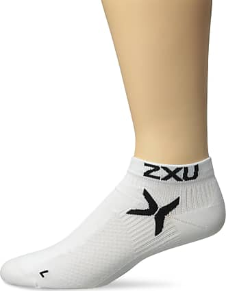 2XU Mens Performance Low Rise Sock, White, Large/X-Large