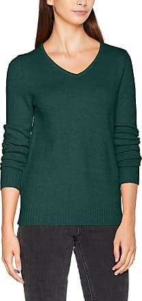 Vila Womens Viril L/s V-Neck Knit Top-noos Jumper, Green (Pine Grove Detail: Melange), 8 (Size: X-Small)