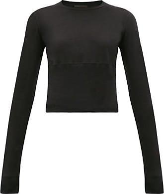 Wardrobe.NYC Wardrobe.nyc - Release 05 Hem-panel Long-sleeved Jersey T-shirt - Womens - Black